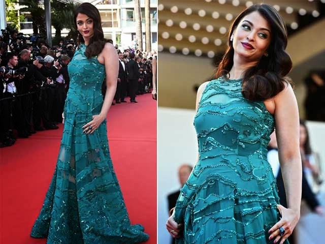 Aishwarya Rai Bachchan is a Green Goddess in Elie Saab