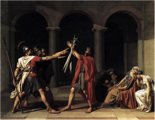 David  Oath of the Horatii  1784Oath Of The Horatii