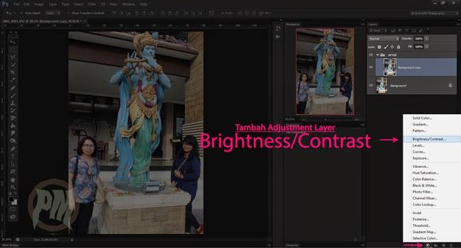 3-Menambahkan-Adjustment-Layer-Brightness-Contras-untuk-Membuat-Efek-Lomo