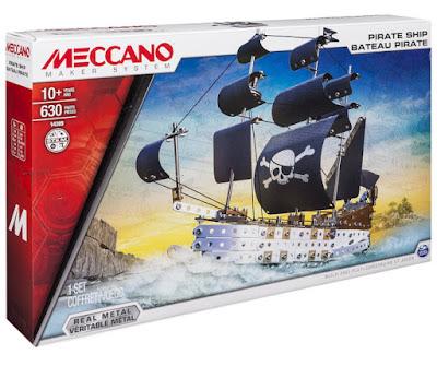 TOYS - JUGUETES - MECCANO  14309 Barco Pirata | Pirate Ship  Producto Oficial 2015 | Piezas: 630 | Edad: +10 años  Comprar Amazon España & buy Amazon USA