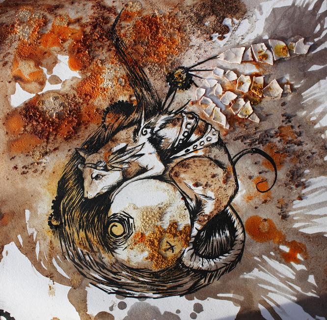 O ka f e steampunk rat peinture alimentaire for Peinture alimentaire cuisine