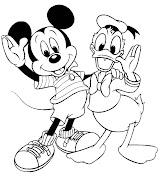 Pato Donald para pintar ♥