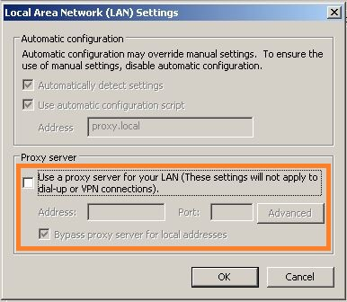what is automatic configuration in lan settings