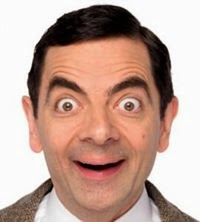 mr bean funny face photo