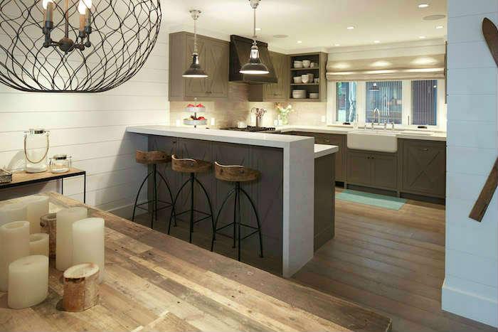 Salon Y Cocina En Dos Niveles Living Room And Kitchen On