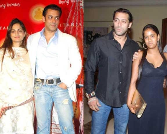 Salman Khan with his sisters - Arpita and Alvira