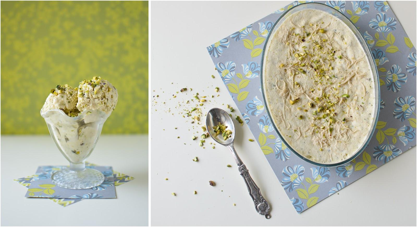 Dairy-Free} Halva and Pistachio Ice Cream / the kosher spoon