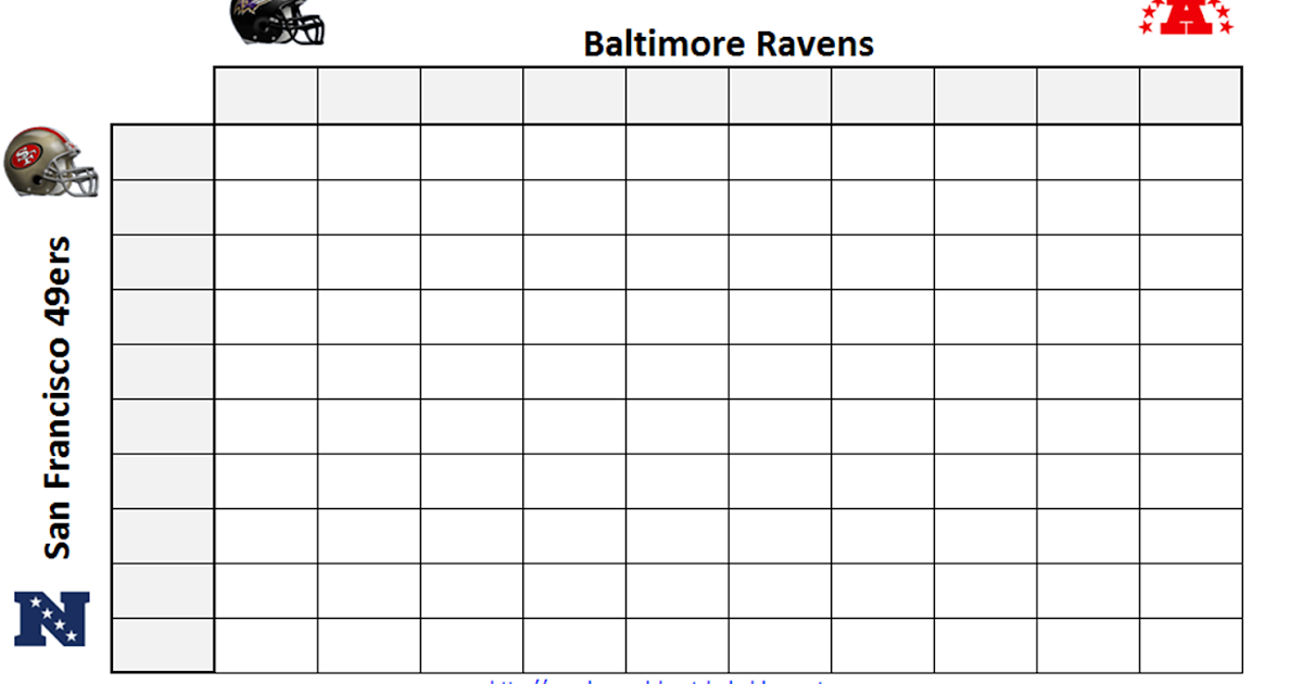 ... Super Bowl Squares Pool . Super Bowl Squares Template, How To Play