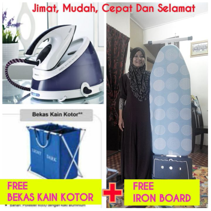 Cempaka Biru Philips Steam Iron By Amway