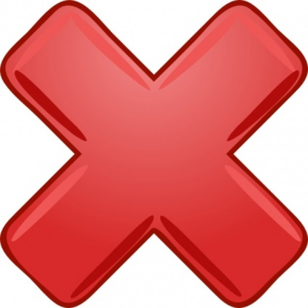 big red x clip art - photo #27