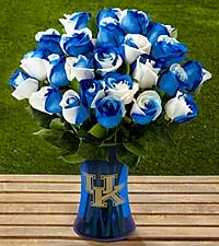Blue roses for bouquet