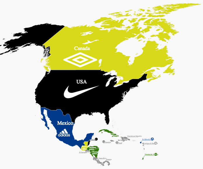 Footballs national team kit suppliers how they spread across the umbro seems like giants in the concacaf market but thats only because canada is so large in reality the uk company is struggling on the national team gumiabroncs Images