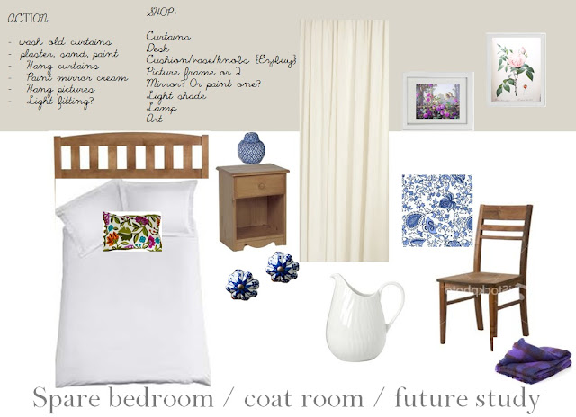 Indigo and violet room scheme, by Amy at Five Kinds of Happy blog