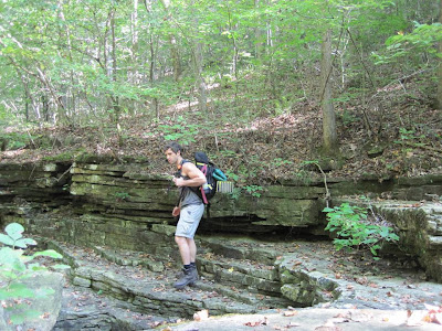 Aaron Fanetti hiking the Buffalo River Trail