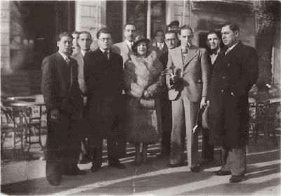 Encuentro Orfeó Badaloní - Barcelona en Badalona en 1932