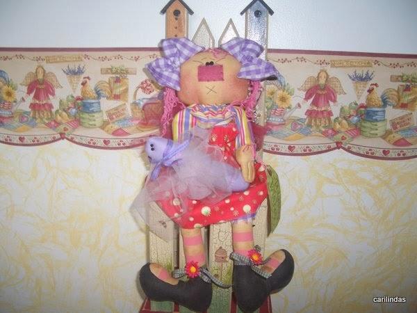 Moldes boneca para decoração de quarto infantil