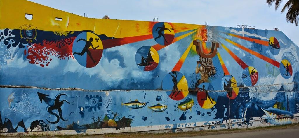 El Murciélago Beach Manta graffiti