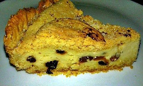 Porción de tarta de requesón
