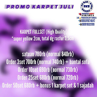 [BOOMING NOW] PROMO KARPET FULLSET