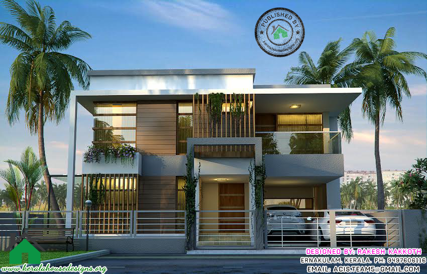 Style House Design 3d Elevation Kerala Home Designs Floor