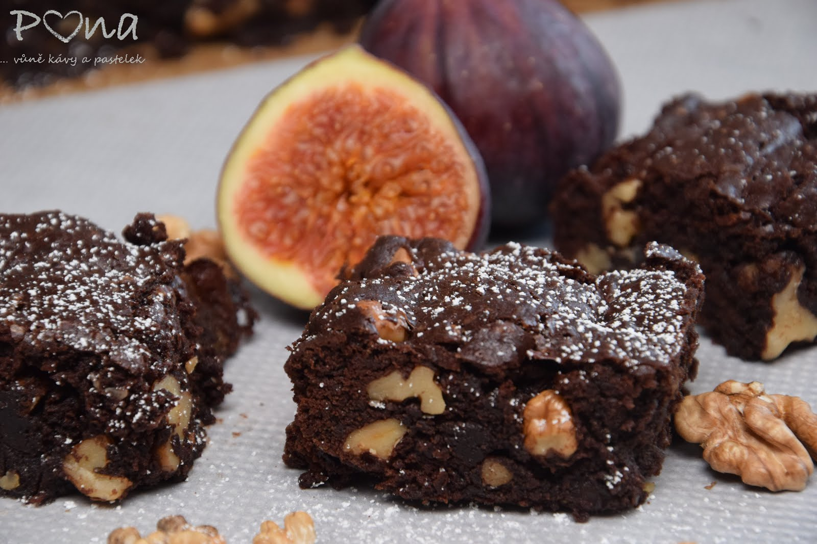 Ořechovo-fíkové brownies