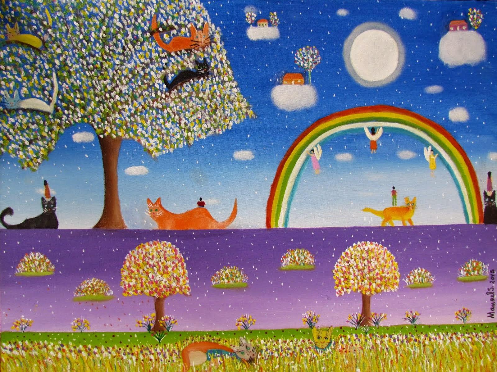 Pintando o Arco-íris - 2 Acrílica sob/tela 35x45