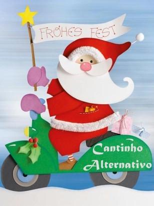 Papai noel de eva com molde blog cantinho alternativo - Weihnachts fensterbilder basteln ...