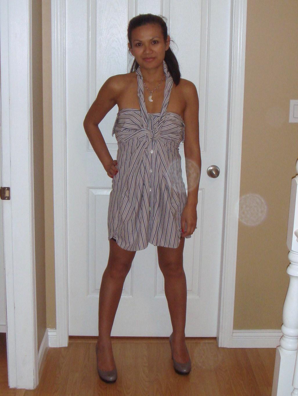 Dresses out of a man s dress shirt then i made myself a new dress
