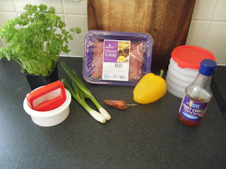 Sweet Chili chilli turkey burger ingredients