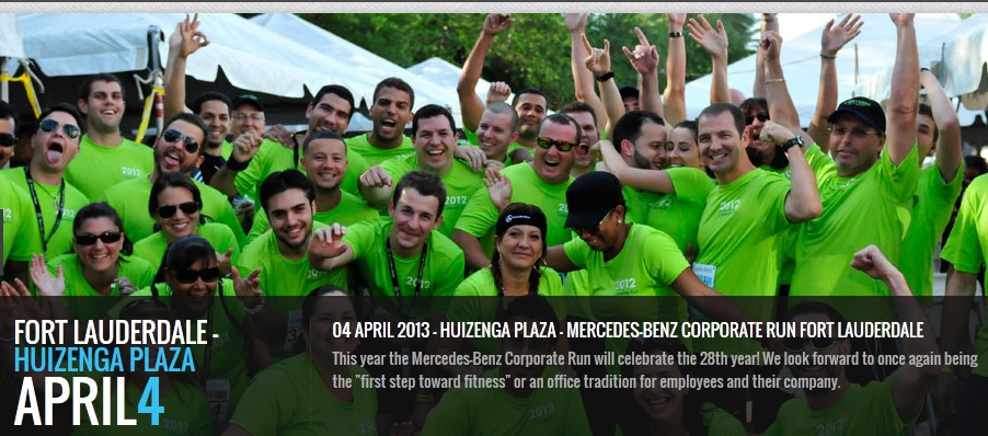 Events and fun in south beach miami fort lauderdale for Miami mercedes benz corporate run