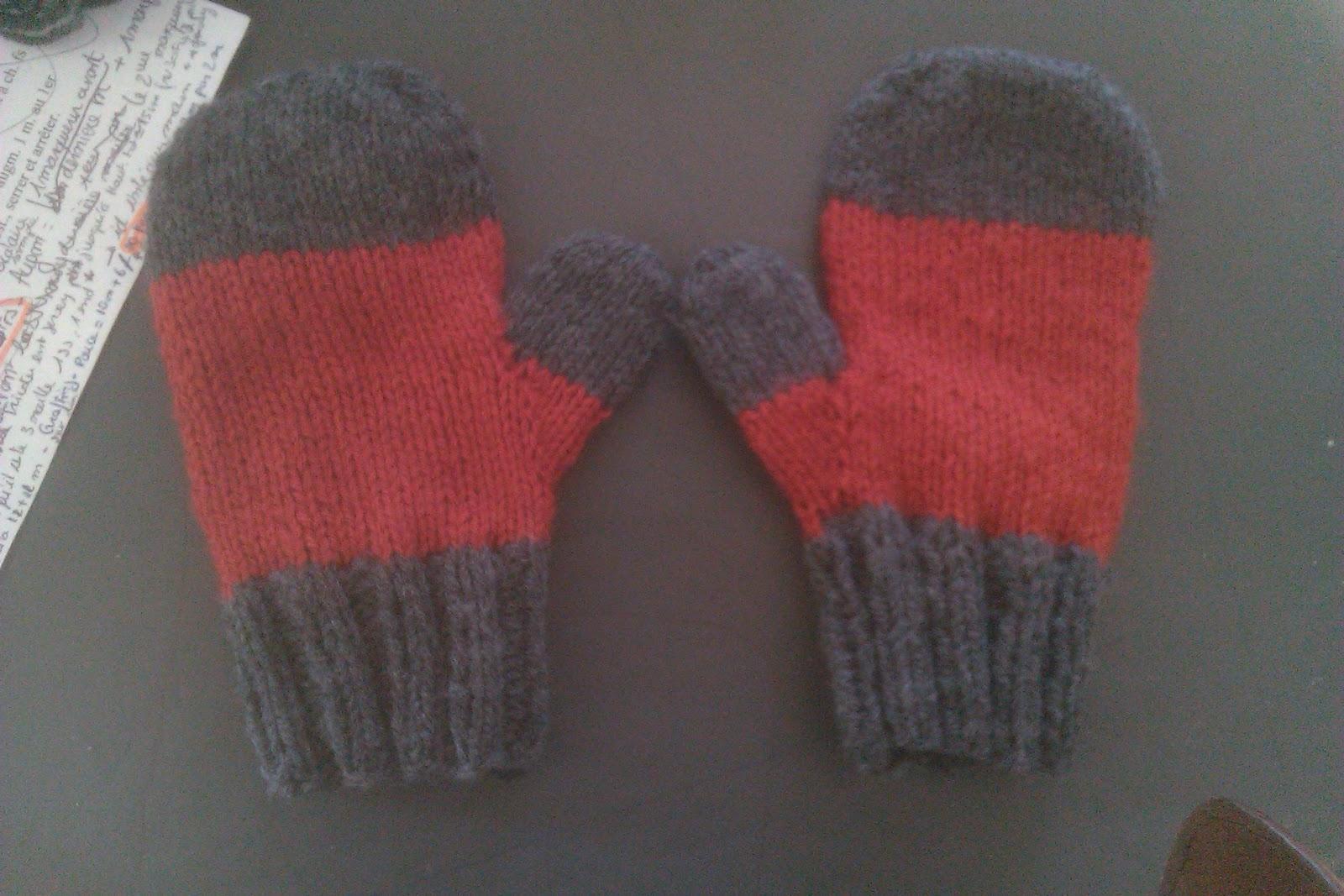 tricot moufles 2 aiguilles