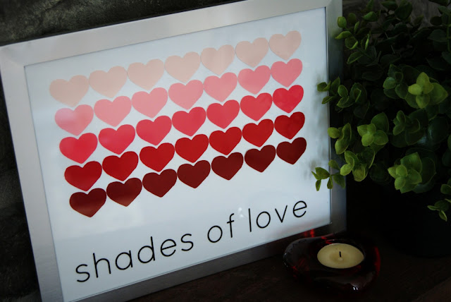 """Shades of Love"" DIY Paint Chip Art"