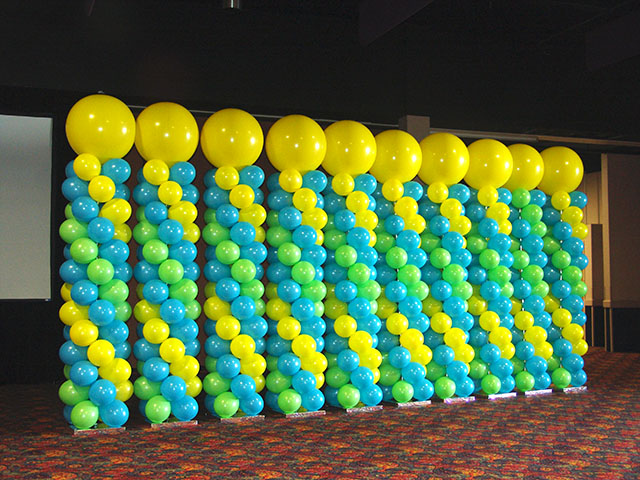 Balloon designs pictures balloon arches and columns for Balloon column decoration