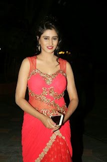 Shamili Transparent Red Saree Latest Unseen Pictureshoot (10).JPG