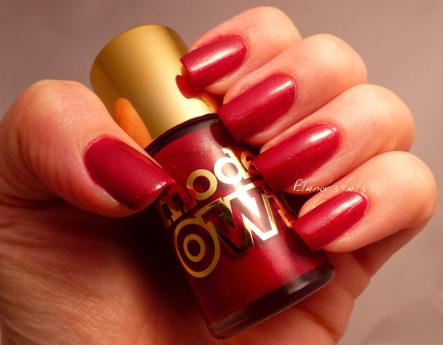Elanor\'s Nails: Models Own Marquise Maroon - with Gold Stamping