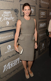 Jennifer Garner in a grey dress at Variety's Annual Power of Women Event
