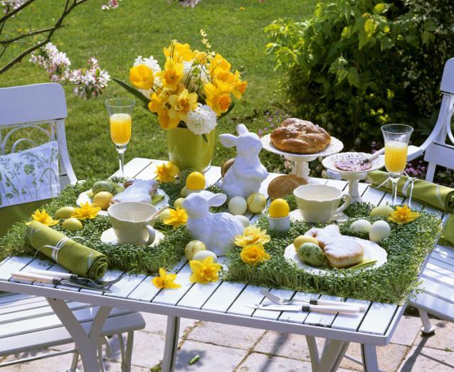 Ingrid brown interior design easter table settings Simple table setting for lunch