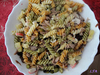 Ensalada de pasta con aliño frances