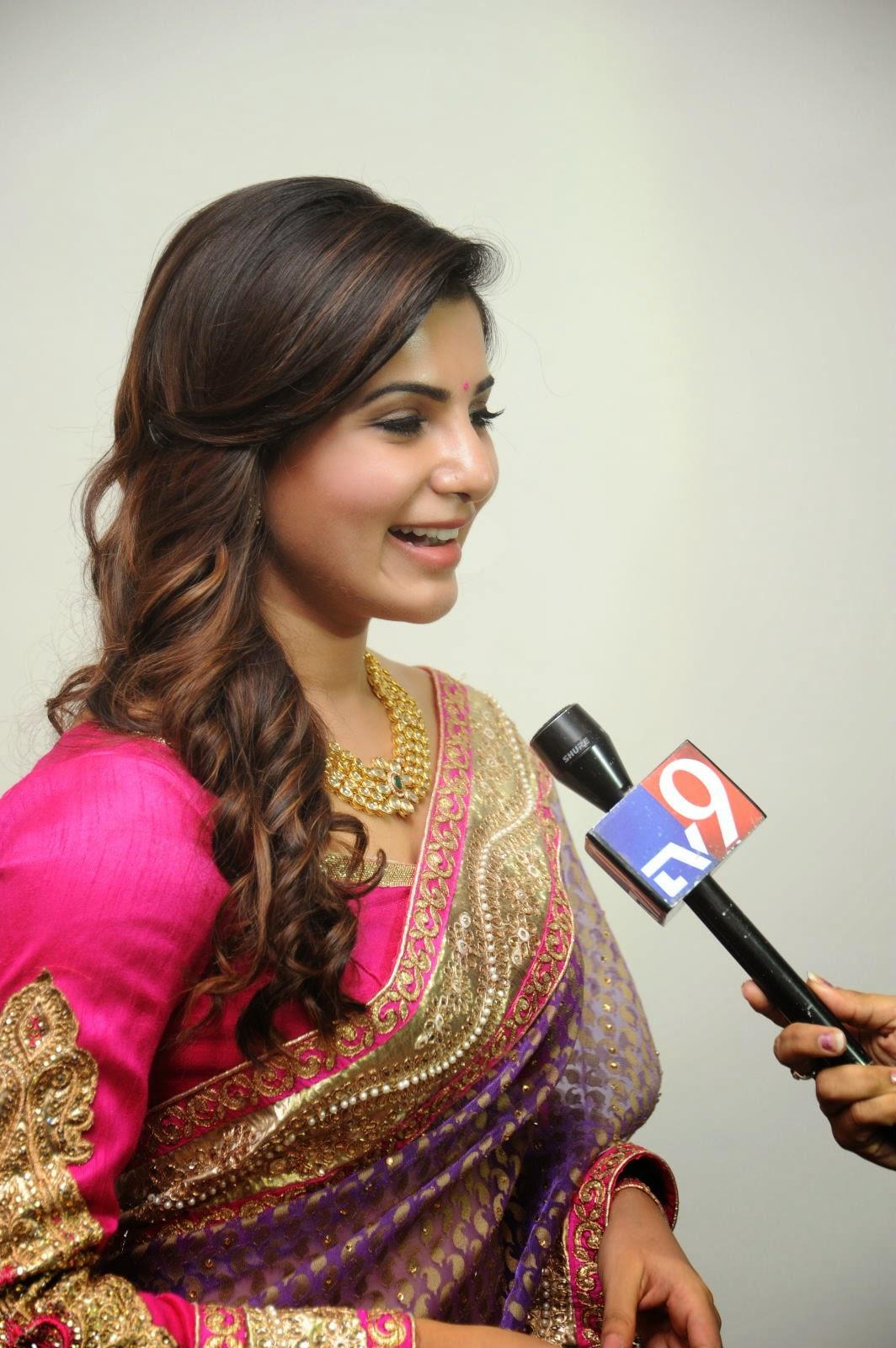 Samantha gorgeous photos in saree-HQ-Photo-11