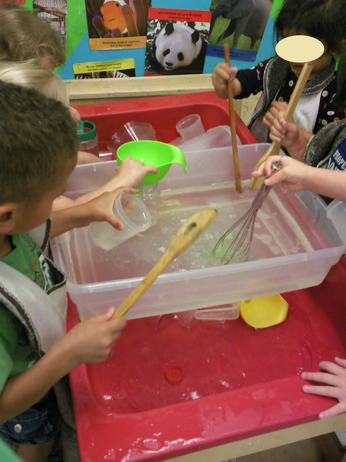 bins to add another level for scooping and pouring this is my rudimentary attempt at adding levels to sensory play check out sand and water tables and
