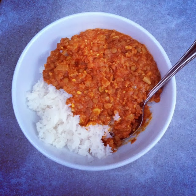Spicy Red Curry Lentils