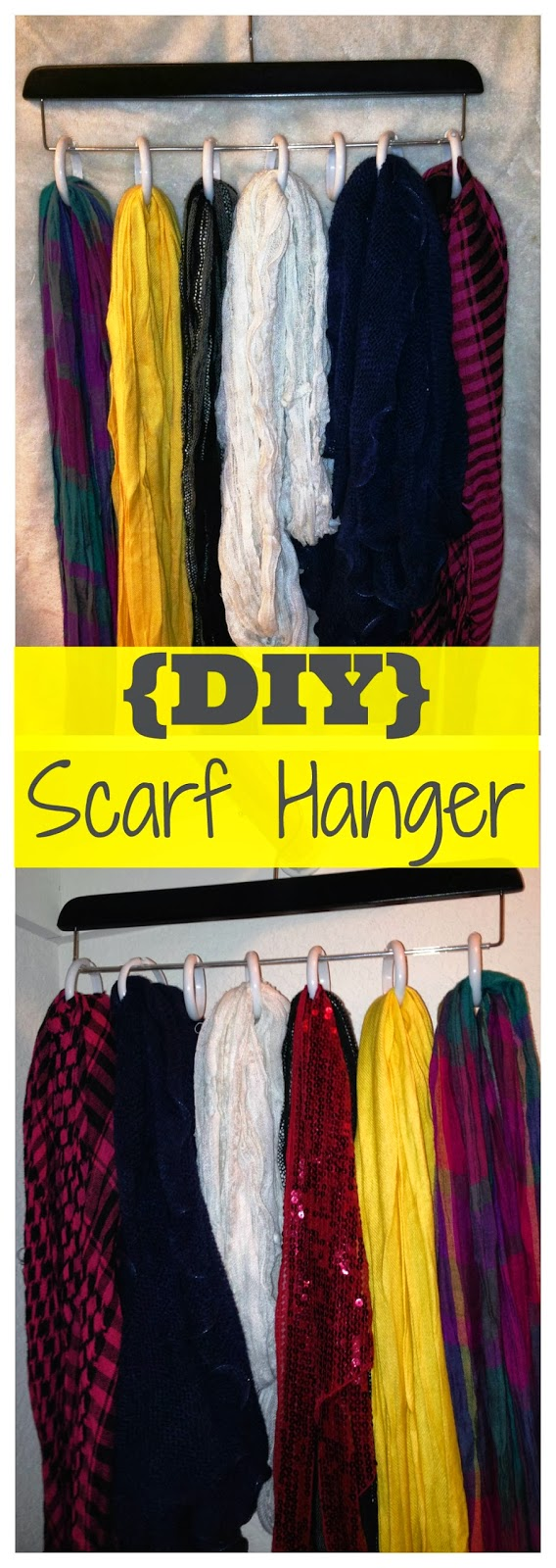 The Everyday Momma: Quick & Simple DIY Projects: Scarf Hanger ...