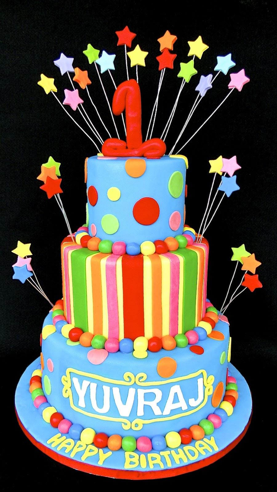 Baking Maniac 1st Birthday Eggless 3 Tier Cake