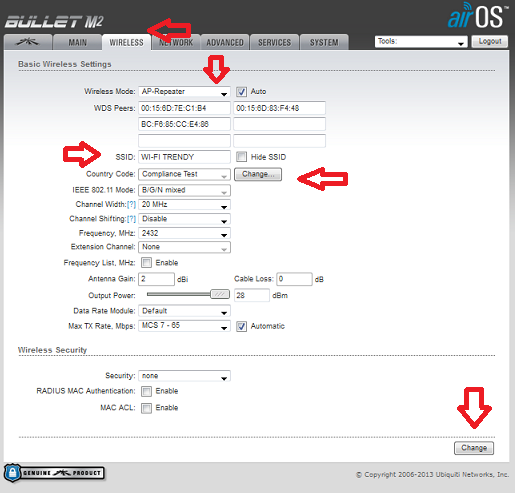 Setting Wireles Bullet M2HP