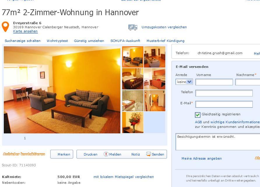 informationen ber wohnungsbetrug. Black Bedroom Furniture Sets. Home Design Ideas