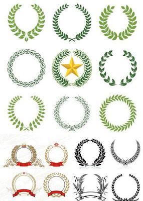 logo wreath, logo karangan bunga, logo padi, logo bintang, logo pady, corn,