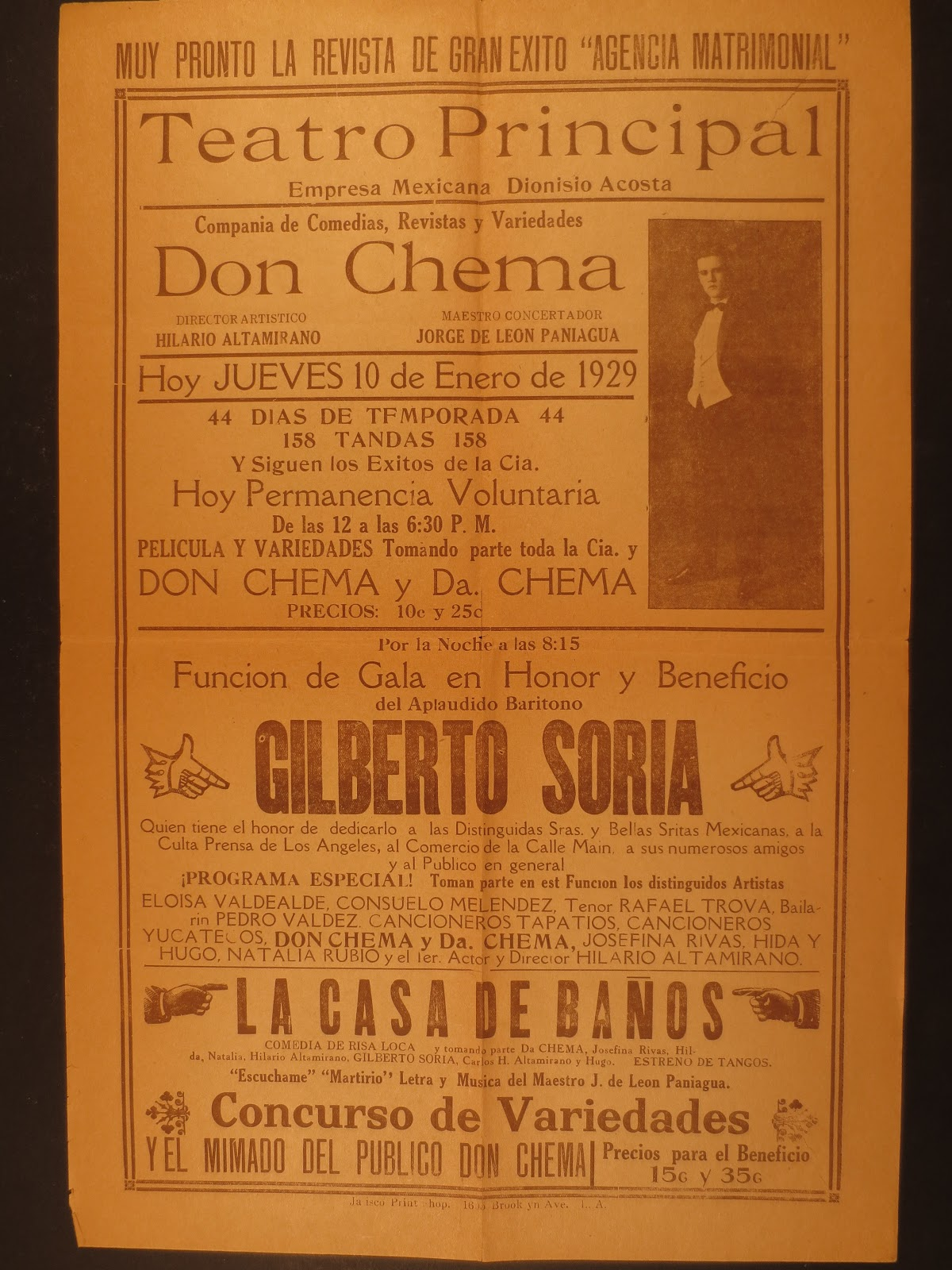 Boyle Heights History Blog: Early Spanish-Language Theater Programs ...