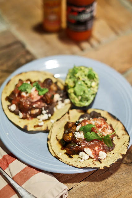 Seared Mushroom Tacos + Two Salsas