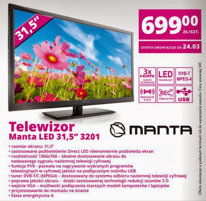 Telewizor Manta LED 31,5