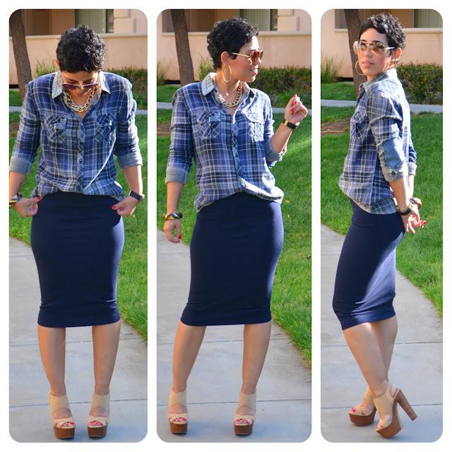 Pencil Skirt And Shirt 73
